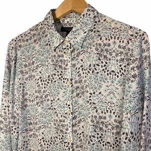 Banana Republic | Mint & Black Floral Shirt | XL